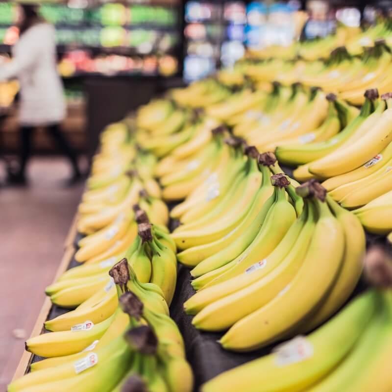 bananas in supermarket