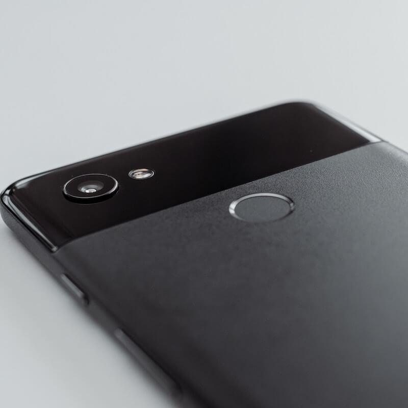 Black Google Pixel 3 back