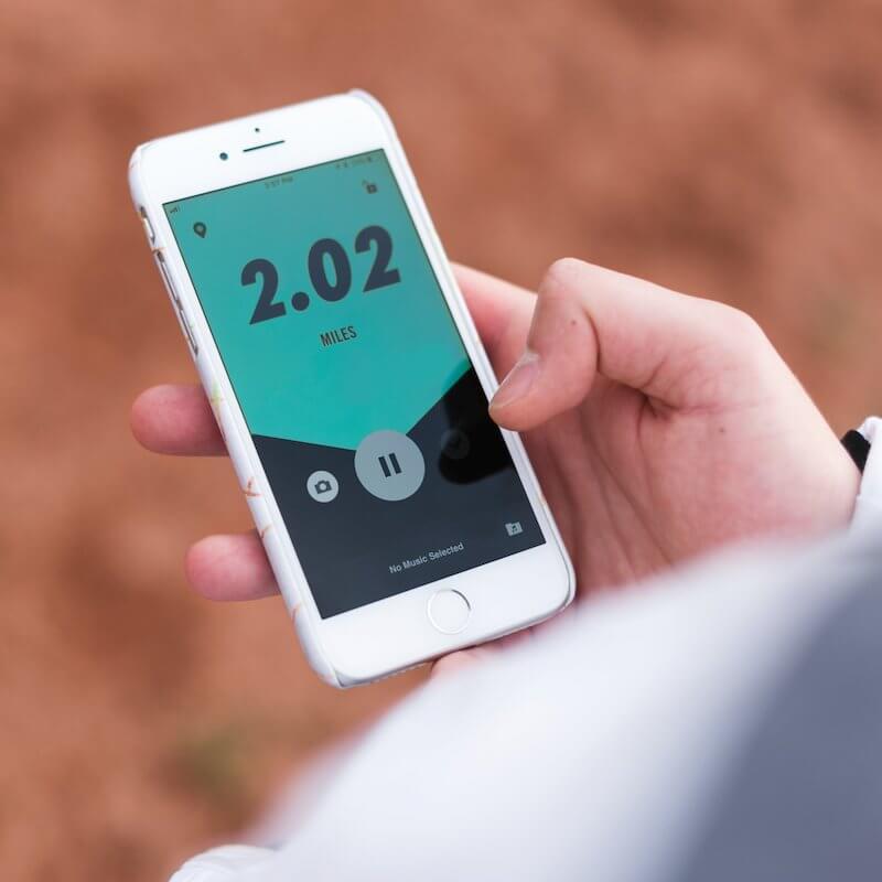 Nike Running app on iphone