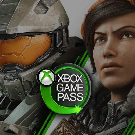 Xbox game pass with gamer character background