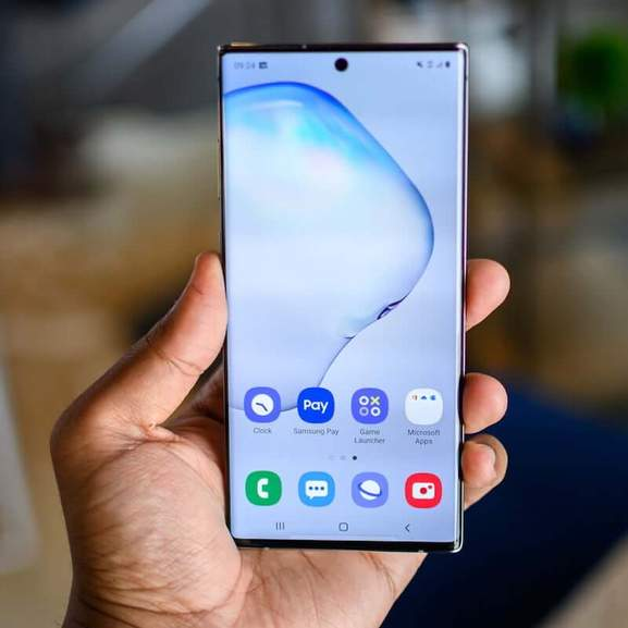 Note 10 Plus in hand