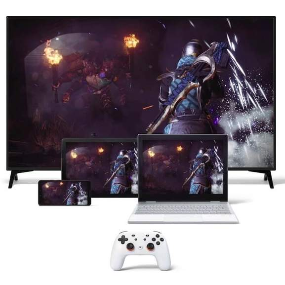 stadia controller with games