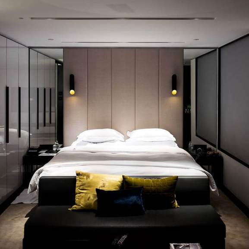 fancy double bed