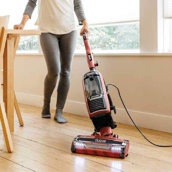 Red Shark Vacuum Cleaning wooden floor