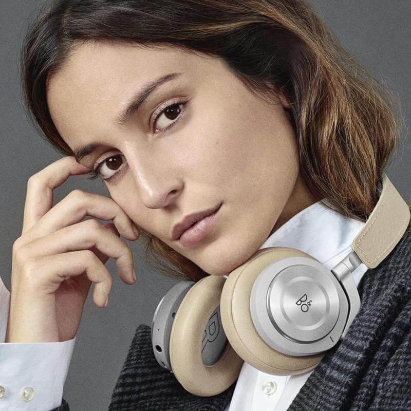Beoplay wireless headphones hqi around neck