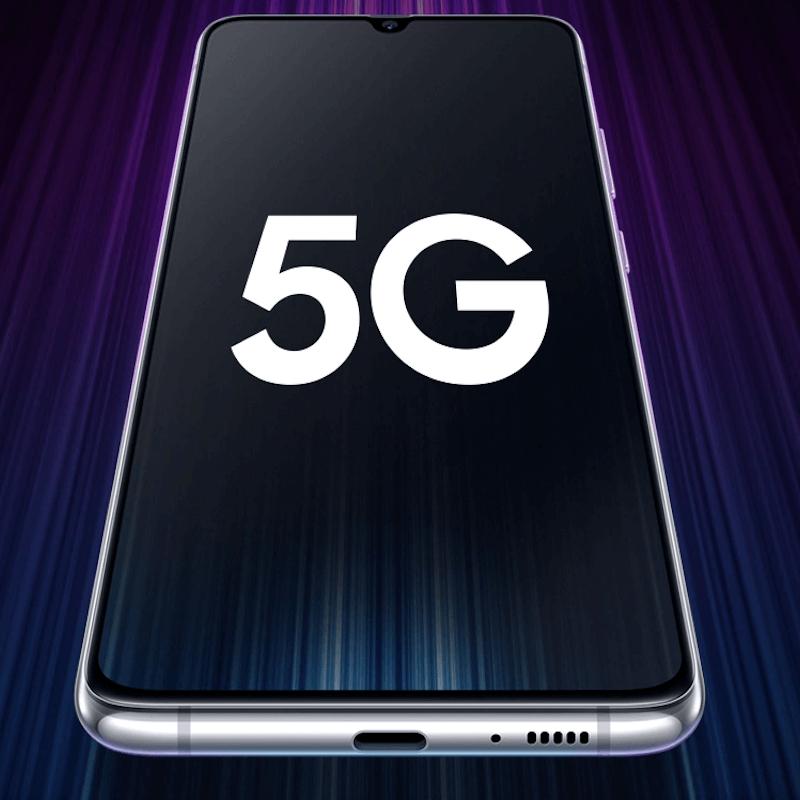 Samsung Galaxy a90 5g on dark background