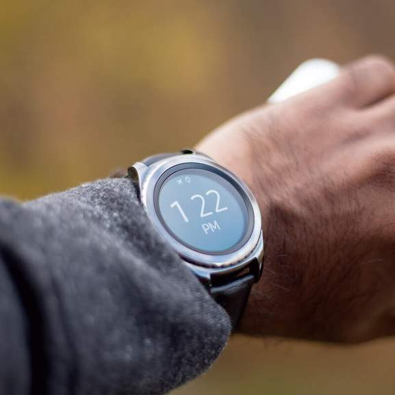 Samsung Gear Watch on wrist