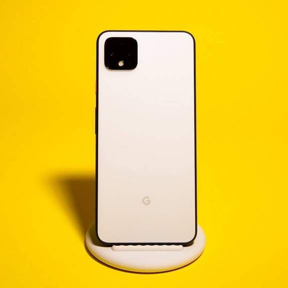 google pixel 4 on stand