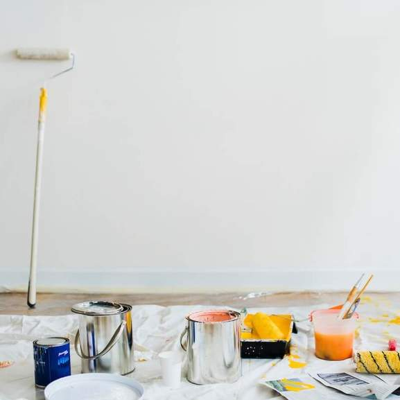 Wall Paint with paint roller