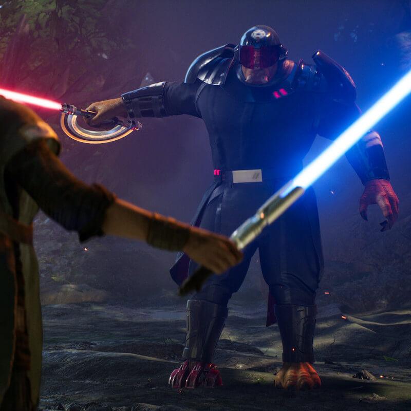 Lightsaber battle in Star Wars Jedi Fallen Order