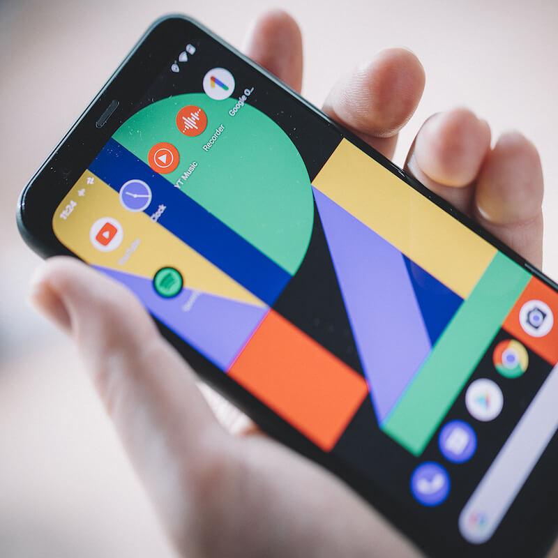 google pixel 4 in hand