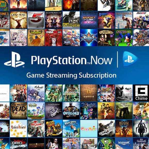 Playstation Now logo with PS4 games