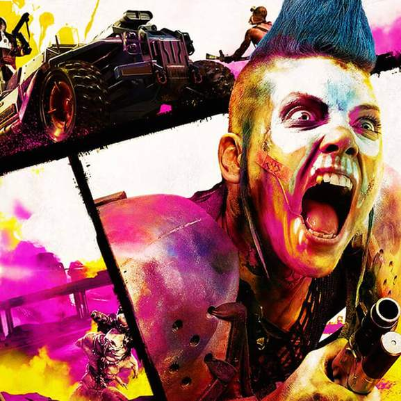 Rage 2 main character in vivid colour