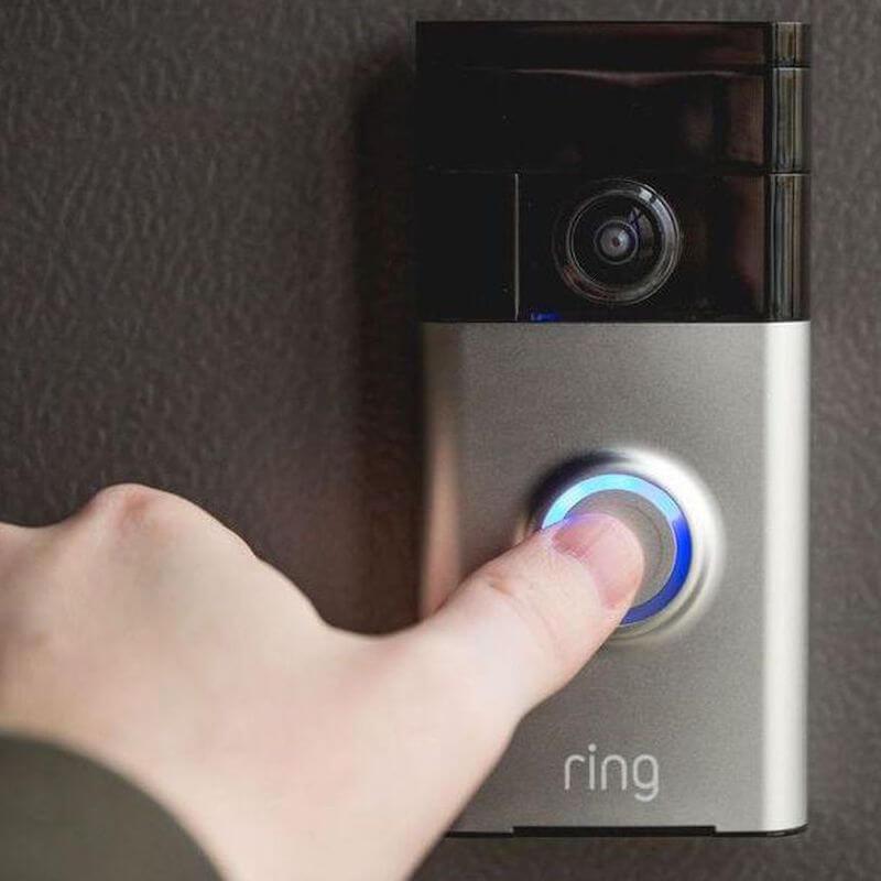 ring video doorbell in use