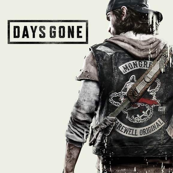 Days Gone Logo next to Days Gone Character