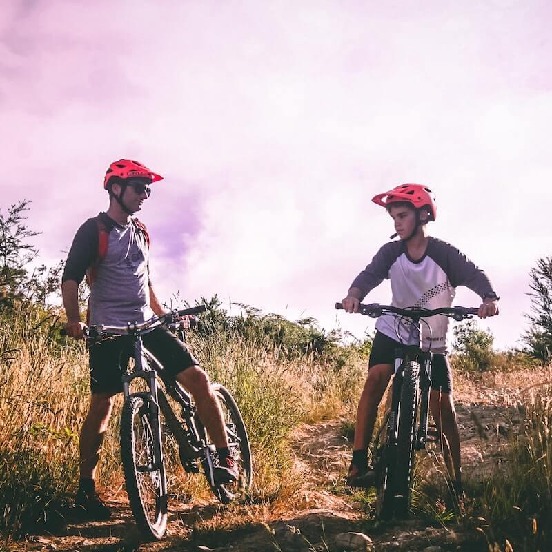 2 boys on bikes