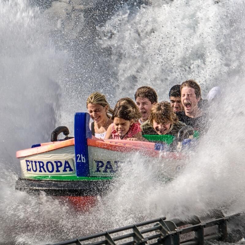 water splash ride