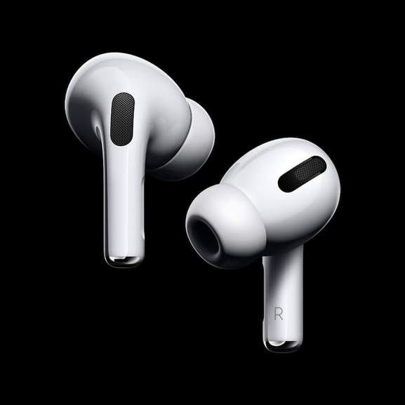 Airpods Pro on black background