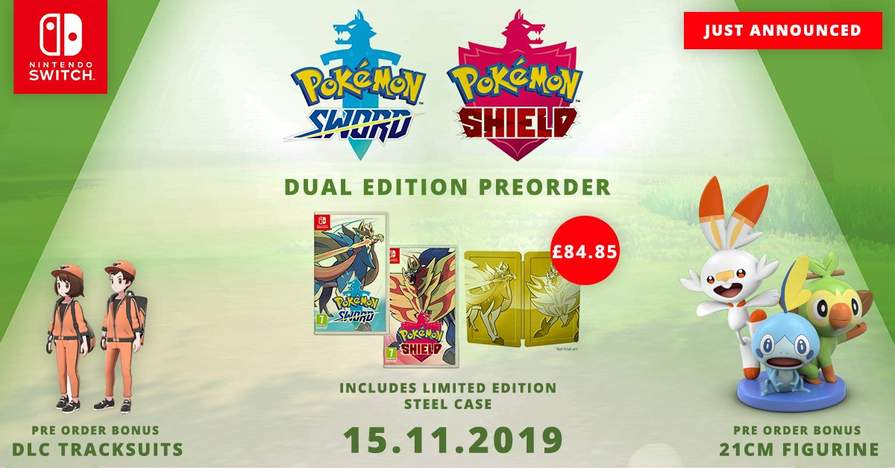 Pokemon Sword Shield Le Steelbook Digital Bonus 39 85 Or Dual