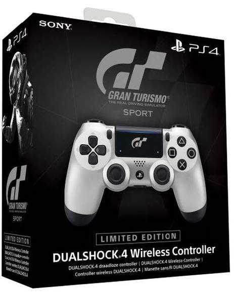 Race The Worlds Fastest Cars With GT Sport Limited Edition DUALSHOCK 4 Wireless Controller In Your Hands Featuring A Sleek Silver And Black Design