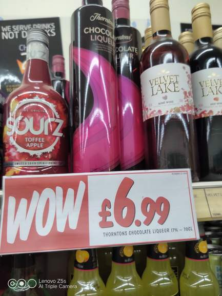 Thorntons Chocolate Liqueur 699 In Store At Fultons