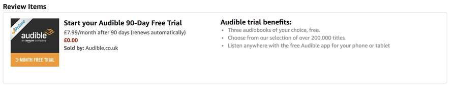 Audible 3 Month Free Trial(New Customers) For Prime Members