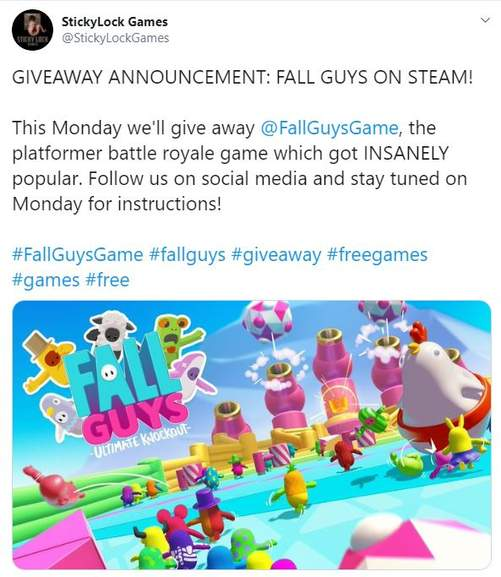 Pc Fall Guys Ultimate Knockout Steam Free Giveaway Stickylock Games Hotukdeals