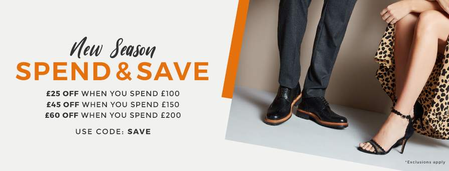 25 off £100   £45 off £150 or £60 off £200 Spend on Footwear with ... fa82a74e8c