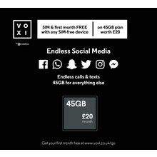 SIM Free Moto E5 Plus | + £10 Voucher | + £20 Voxi Sim (Pre Loaded