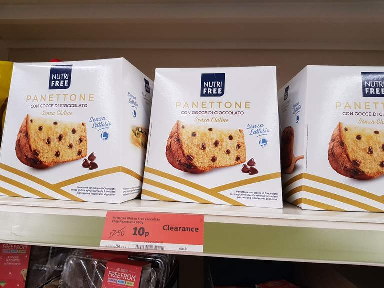 Nutrifree Chocolate Chip Panettone 600g 10p At Sainsburys
