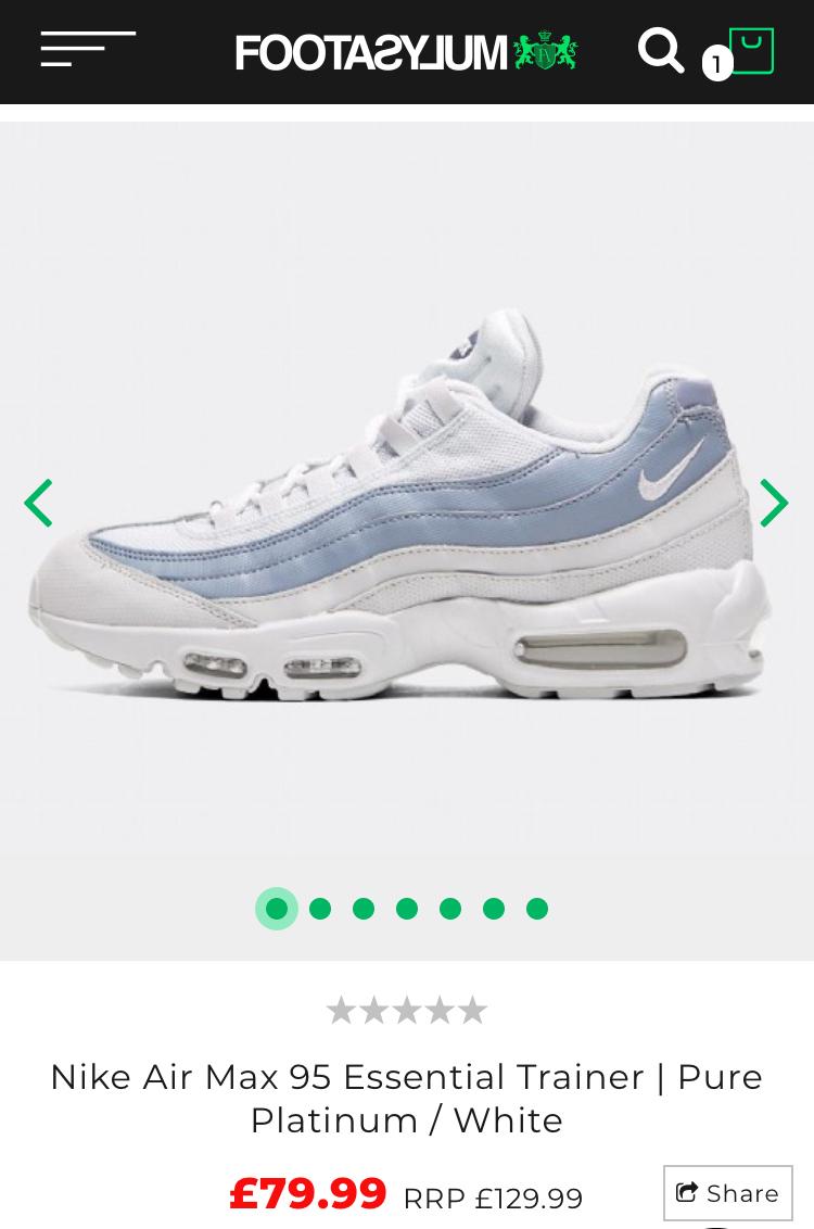 online retailer c4664 cb32e Nike Air Max 95 premium trainers now £69.99 @ Footasylum ...