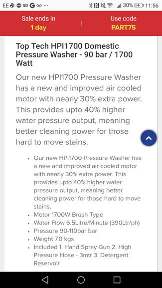 New Improved Pressure Washer 48 99 From Eurocarparts Hotukdeals
