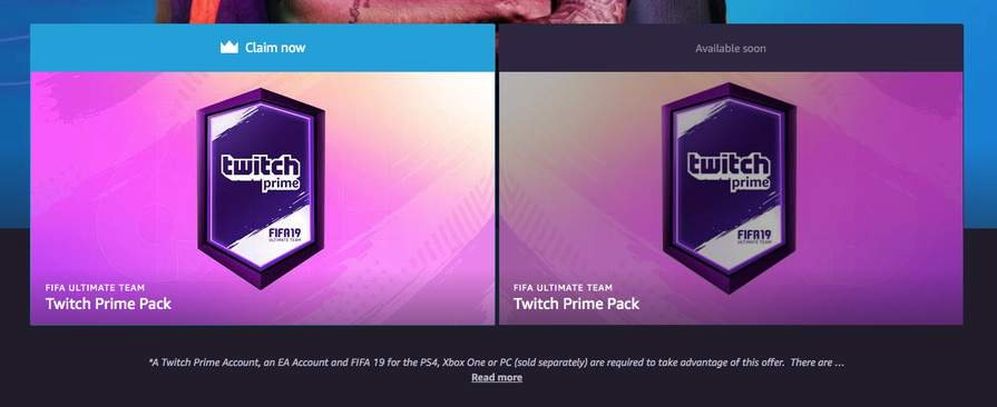 PS4/Xbox One/PC] Two Free Unique FIFA 19 Ultimate Team Packs (for