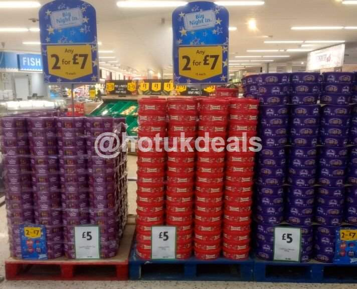 Chocolate Tubs 2 For 7 Celebrations Heroes Quality