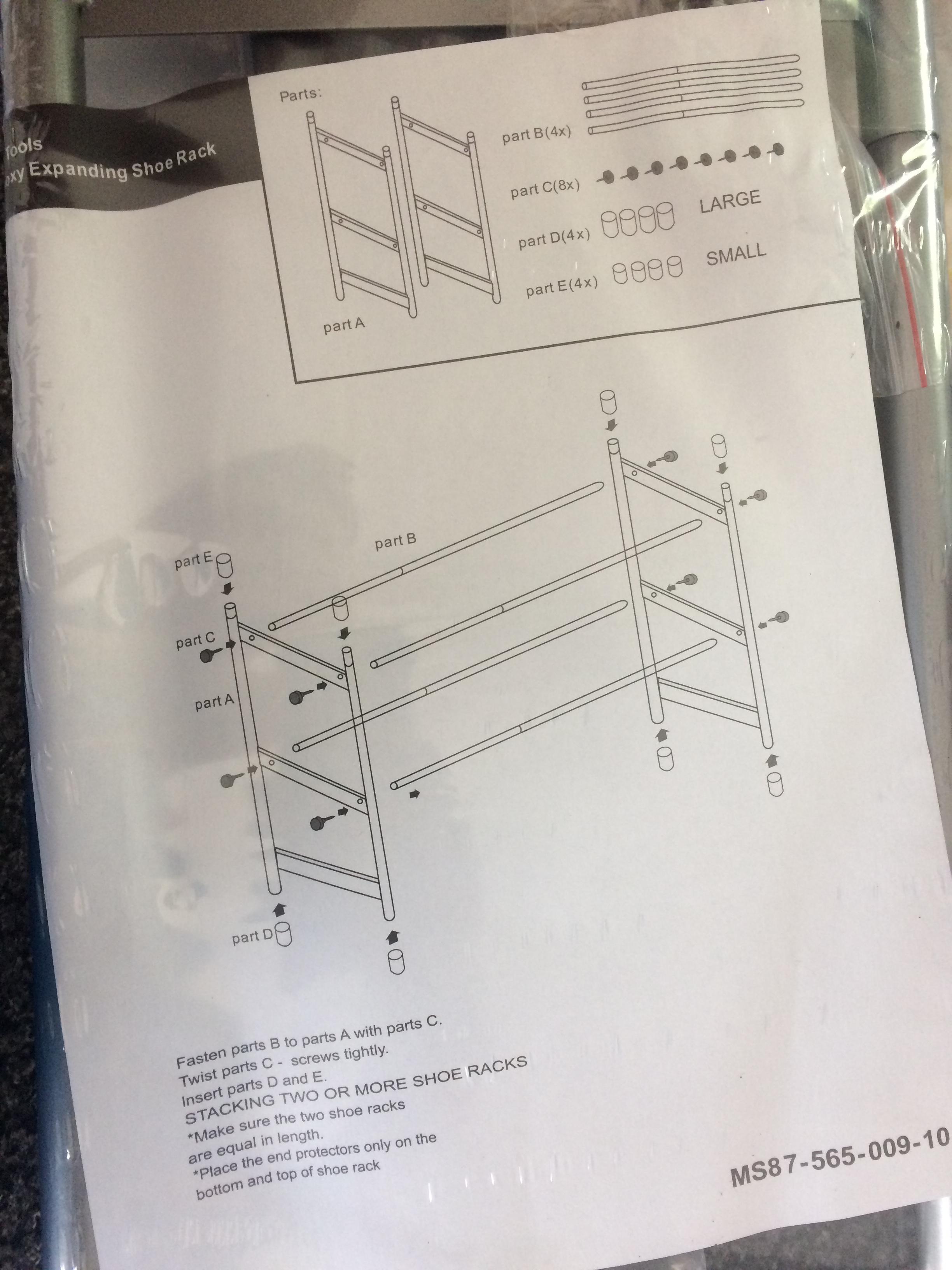 asda extendable shoe rack 1 instore asda living at the. Black Bedroom Furniture Sets. Home Design Ideas