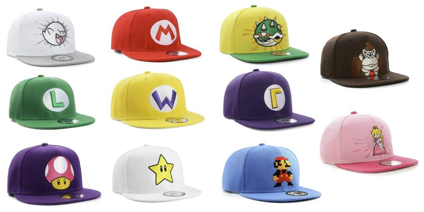5730881ab True Heads Super Mario Bros Snapbacks Caps - 1 for £12.99 + ...