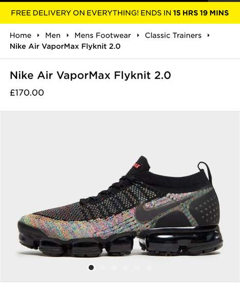 the latest b20e7 b48e0 Nike Air VaporMax Flyknit 2.0 size 7 up to 13 all in stock ...