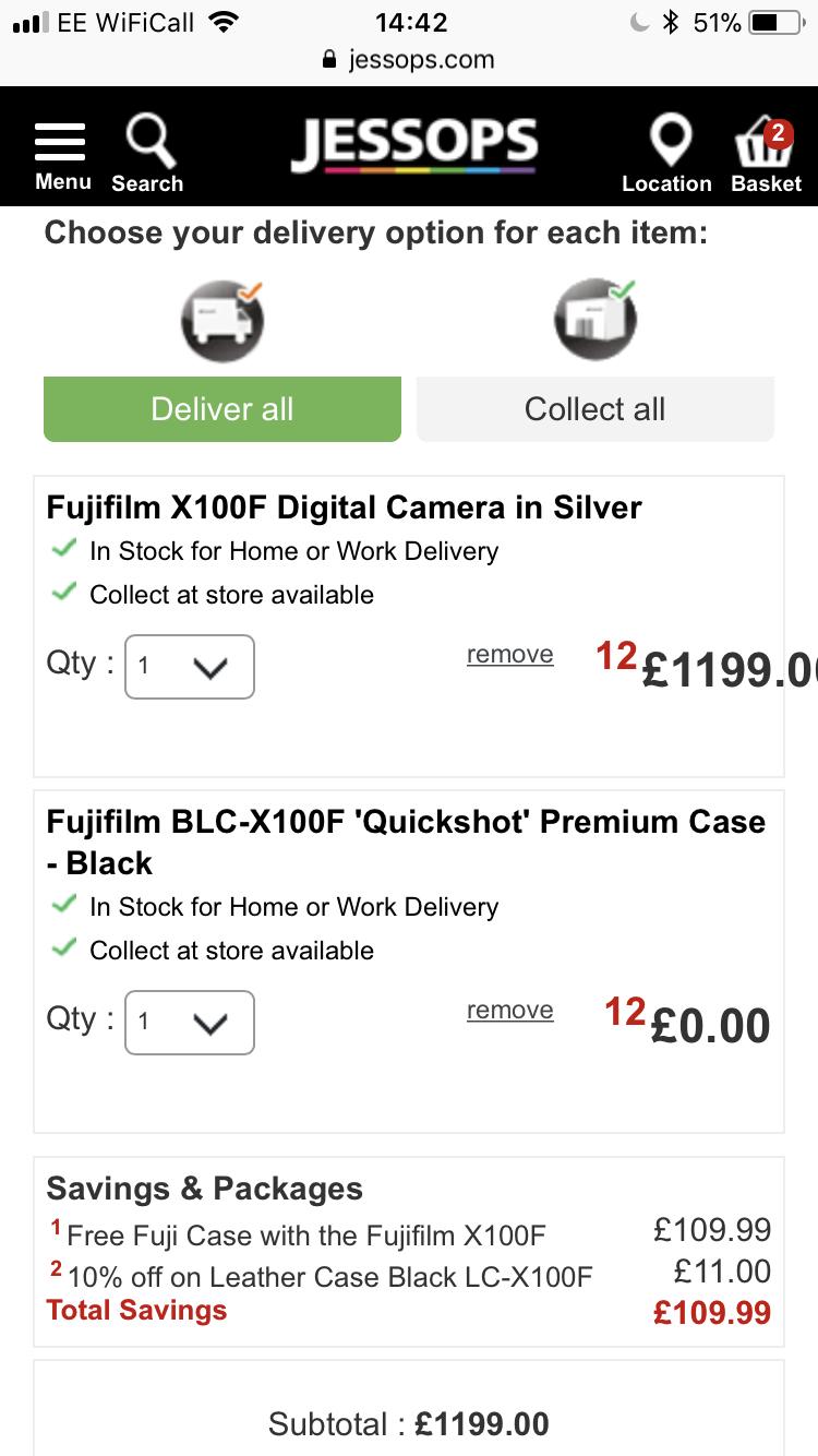 FUJIFILM X100F DIGITAL CAMERA and free leather premium case £1199 ...