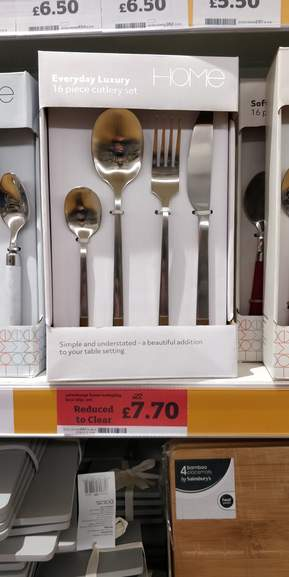 Sainsbury's Home Everyday Luxe Brushed Cutlery Set 16pc reduced from £22 - £7.70