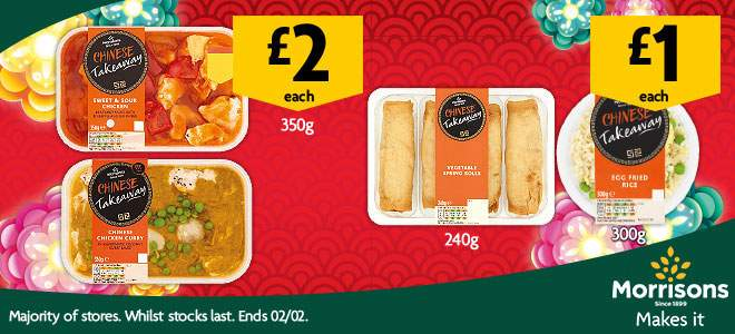 Morrisons Takeaway Curries And Chinese Main 2 Sides 1