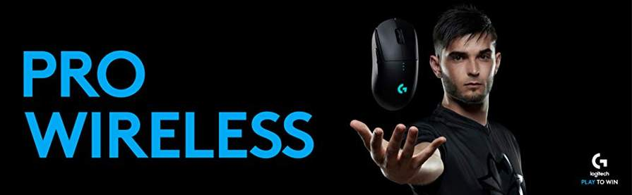 Logitech G PRO Wireless Gaming Mouse with Hero Sensor (16
