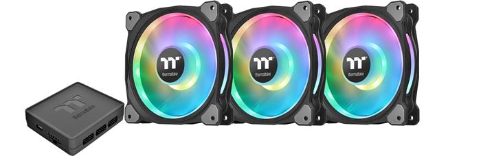 Thermaltake Riing Duo 12 Fan TT Premium Edition 3x Fan 1x Controller
