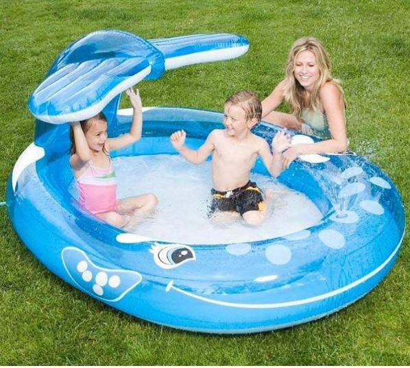 whale spray paddling pool and water sprayer was 15 now. Black Bedroom Furniture Sets. Home Design Ideas