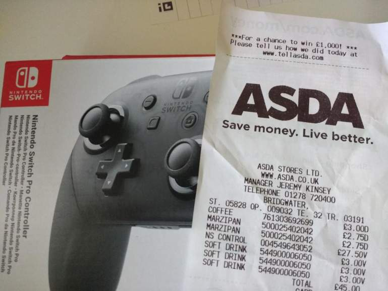 Nintendo Switch Pro Controller - £27 50 in-store at Asda