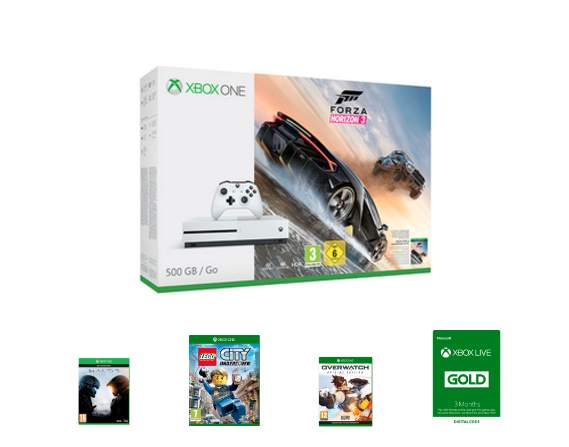 Xbox One S Forza Horizon 3 500GB Bundle with Halo 5, Lego City ...