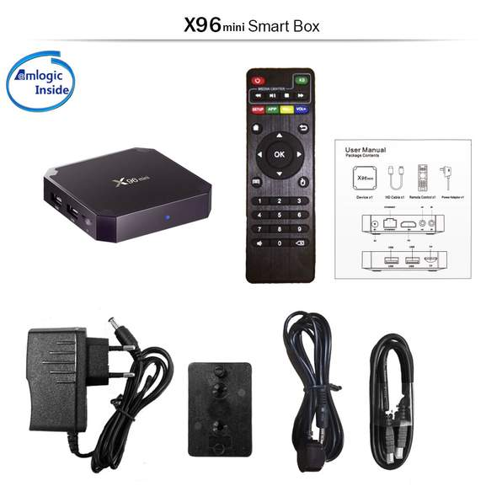 X96 MINI Android 7 1 2 Amlogic S905W 4K KODI 17 3 TV BOX