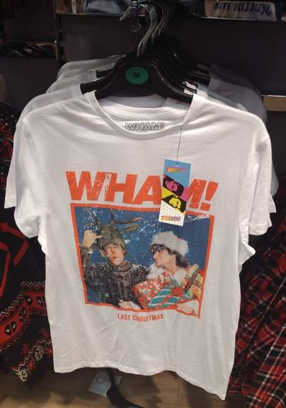 8757fbf417f6d Wham! Last Christmas (Single Cover) T-shirt £8, Or Sweater £12, In ...