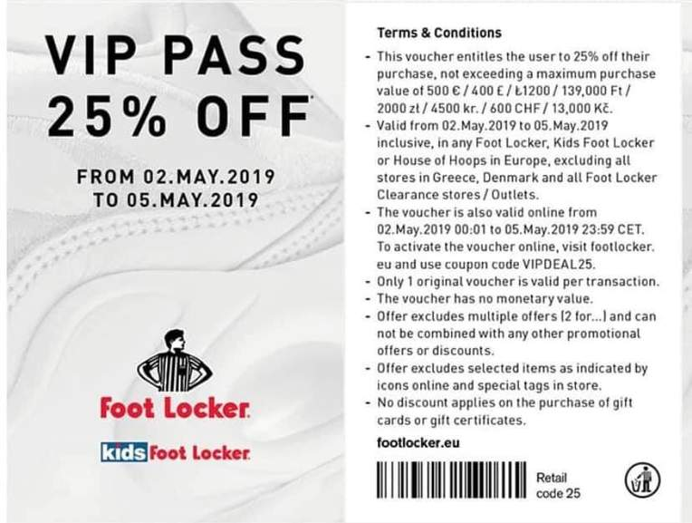 011d0dd4b Footlocker 25% off with code between 2nd and 5th May - includes Sale ...