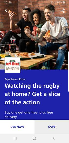 Buy One Get One Free Pizza And Free Delivery With Papa Jones