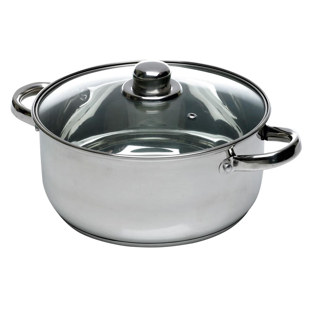 24cm stainless steel casserole dish 3 from 11 wilkinsons broadmead bristol hotukdeals. Black Bedroom Furniture Sets. Home Design Ideas